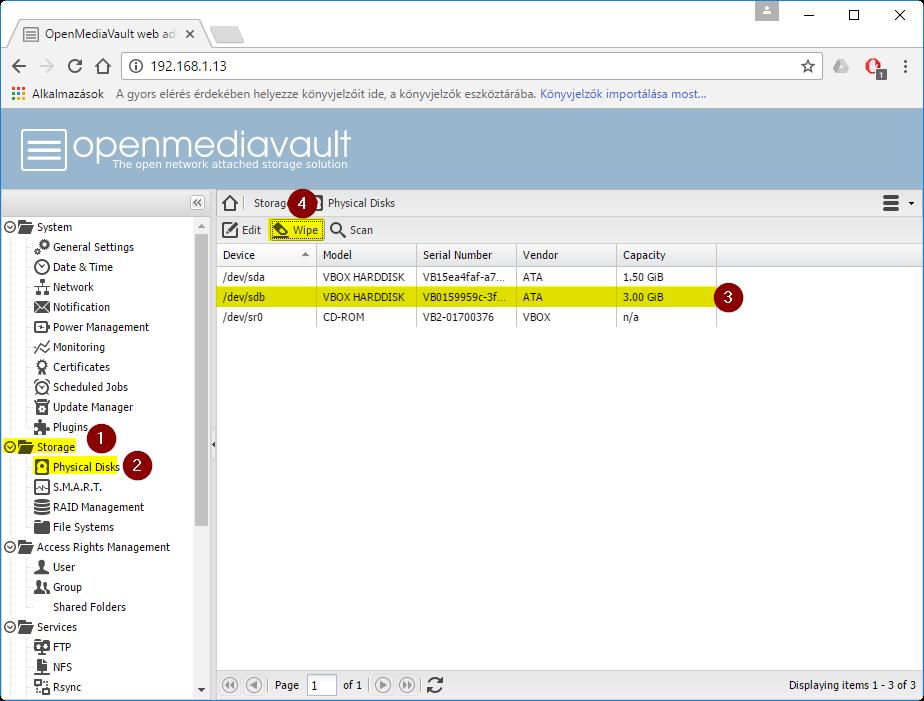 PXE-boot server – Setup media-share function for
